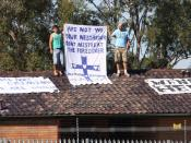 asylum seekers protesting at the Villawood detention center in Sydney