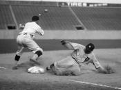 Ty Cobb safe at third after making a triple, 8/16/[19]24. 1 negative : glass ; 4 x 5 in. or smaller. This is a cropped version of File:Ty Cobb sliding2.jpg