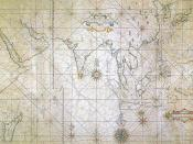 Japanese portolan sailing map, depicting the Indian Ocean and the East Asian coast, early 17th century.