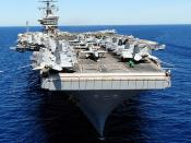 USS Dwight D. Eisenhower is underway in the Mediterranean Sea.