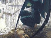 La mort du fossoyeur (Death of the gravedigger) by Carlos Schwabe