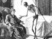 A Western depiction of Death as a skeleton carrying a scythe.