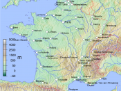 Map of Metropolitan French cities (agglomerations > 100,000 inhabitants on 1999 census).