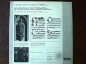 Backside Muziek uit de Kathedraal - Willaert - Missa Gaude Barbara, Fux - Klosterneuburger Messe, Carissimi - Ah! Vide Domine Nostrum Laborem - St.Janskathedraal Schola Cantorum, Maurice Pirenne, Den Bosch