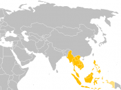The map of Southeast-Asia region.