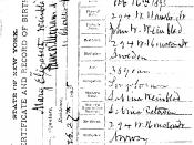 Mary Elizabeth Winblad (1895-1987) birth certificate