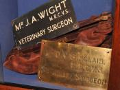 Original name plates for Donald Sinclair (Siegfried Farnon) and Alf Wight (James Herriot) at the James Herriot Museum, Thirsk, UK