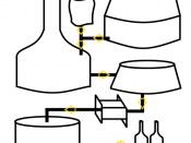 English: Diagram of Brewing Real ale. (With text) Français : Diagramme de brassage de la Real ale.