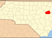 Locator Map of Wilson County, North Carolina, United States