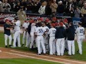English: Yankees Celebrate Derek Jeter Hit #2722