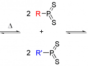 Scheme for a representation of the equilibrium of LR.