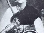 Portrait of Lakshmibai, the Ranee of Jhansi, (c. 1850s).