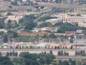 English: Panoramic view of New Mexico State University from Tortugas (