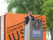 Howard Simon, ACLU of Florida Executive Director, taken at Amnesty International protest in Miami, May, 2008.