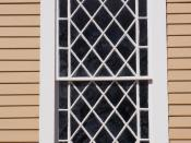 English: Window frame of Old Ship Church, Hingham, Massachusetts