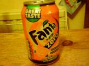 English: The fanta zero soft drink can in the united kingdom