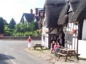 English: Barthomley. The White Lion must be one of the most traditional pubs in Britain. You get the impression that nothing's changed there for several decades. We were there with friends who live in the village and the atmosphere is great: everyone seem