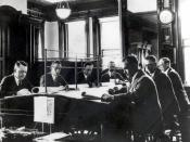 National Weather Service meteorologists preparing a forecast, early 20th century