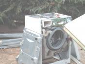 Washing machine- without front