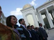 Delegation at the Turkmenistan Museum