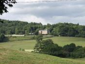 English: Trevor Hall. Trevor's large house. Situated about 5 kilometres east of Llangollen.
