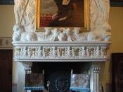 Fireplace in Diane de Poitiers' room of the château de Chenonceau Français : Cheminée dans la Chambre de Diane de Poitiers du château de Chenonceau