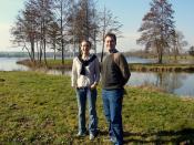 Béatrice, avec le lac de Mézières-en-Drouais