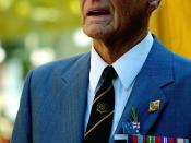 An Australian military veteran on ANZAC Day 2007.