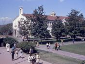 English: Additional view of the interior campus of Fullerton Junior College. Taken with a 35mm Exakta VX, using Ektachrome slide film.