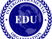 English: Emblem, Logo, Seal of the Inter-governmental Organization EDU promoting global education and accreditation.