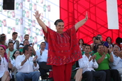 English: Beatriz Paredes, a Mexican politician who serves as president of the Institutional Revolutionary Party (PRI).