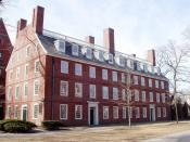 Massachusetts Hall, Harvard University, Cambridge, Massachusetts, USA.