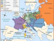 Map of Europe, after the Congress of Vienna, 1815