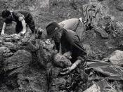 Exhumations in Srebrenica, 1996.