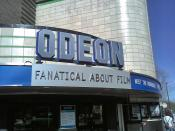 English: An image of the frontage of the Odeon cinema in Harrogate, North Yorkshire, UK