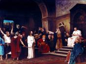 Christ before Pontius Pilate, Mihály Munkácsy, 1881