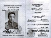 Last army ID of Colonel Kukliński