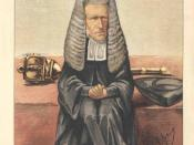 Statesmen No.7: Caricature of The Lord Chancellor. Caption reads: