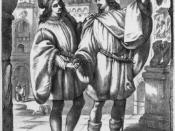 English: Valentine and Proteus from Act 1 Scene 1 of The Two Gentlemen of Verona