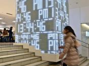 Clock of Light 光の時計 In the SEIBU 西武 池袋 department store in Ikebukuro Tokyo Japan