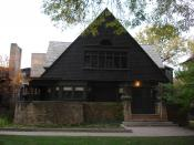 Frank Lloyd Wright House and Studio, Oak Park, Chicago, Illinois (1889), Frank Lloyd Wright, architect.