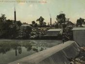 Chillagoe Company's dam and pumping station, Chillagoe, North Queensland, ca. 1910