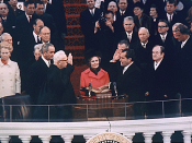 Richard Nixon being inaugurated as the 37th President of the United States
