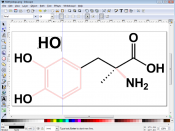 Screenshot of Image:Methyldopa.png in Inkscape, to be used in a quick tutorial