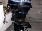 English: Mercury Marine 50hp outboard motor circa 1980s