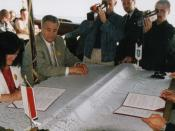 English: Signing of partnership agreement Twin Town- Slupsk and Ustka Polski: Podpisanie umowy partnerskiej Dwumiasta - Słupska i Ustki