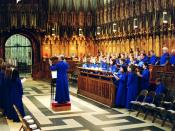 Anglican choir music - a guest choir practices for evensong in York Minster