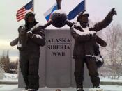 The Lend-lease memorial in Fairbanks, Alaska.