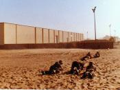 1985 Walvis Bay Detention Barracks - Leopard crawling