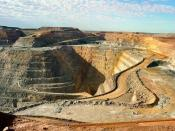 Super Pit gold mine at Kalgoorlie in Western Australia is Australia's largest open-pit mine